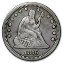 1876-CC Liberty Seated Quarter Fine