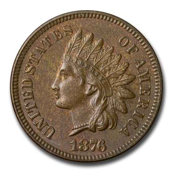 1876 Indian Head Cent BU (Brown)
