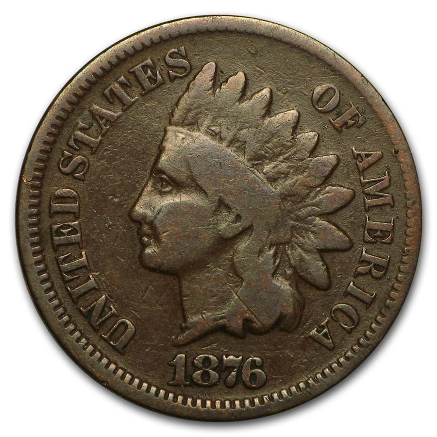 1876 Indian Head Cent Good
