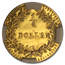 1876 Indian Round 25 cent Gold MS-64 DPL NGC (BG-881)