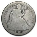 1876 Liberty Seated Half Dollar AG