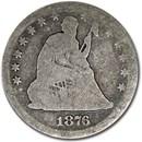 1876 Liberty Seated Quarter AG