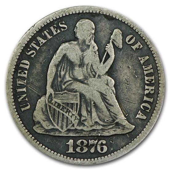 1876-S Liberty Seated Dime Fine