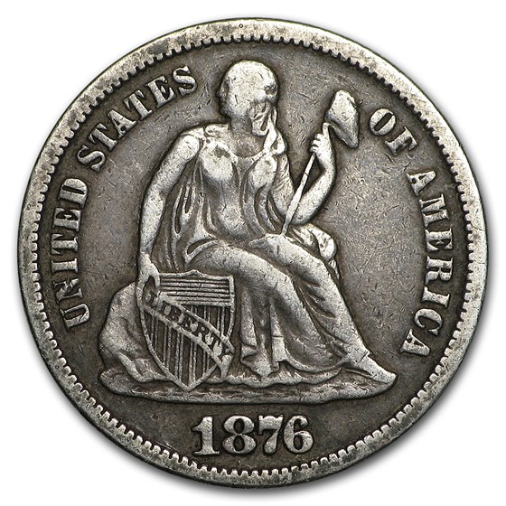 1876-S Liberty Seated Dime VF