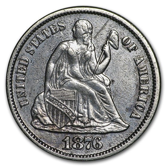 1876-S Liberty Seated Dime XF (Details)