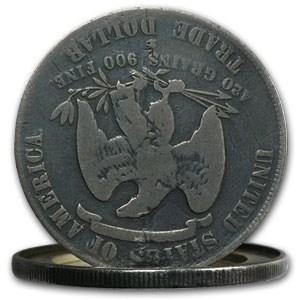 1876-S Trade Dollar Opium Dollar Hinged Box Dollar
