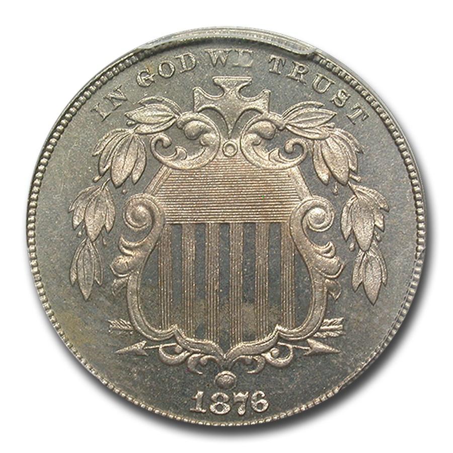 1876 Shield Nickel PR-65 PCGS CAC