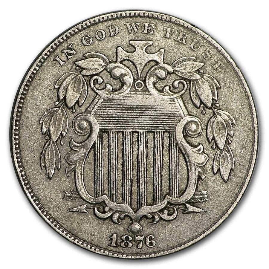 1876 Shield Nickel XF