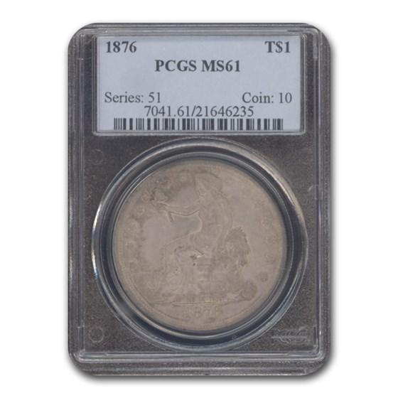 1876 Trade Dollar MS-61 PCGS