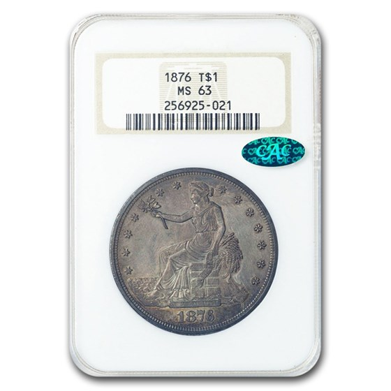 1876 Trade Dollar MS-63 NGC CAC