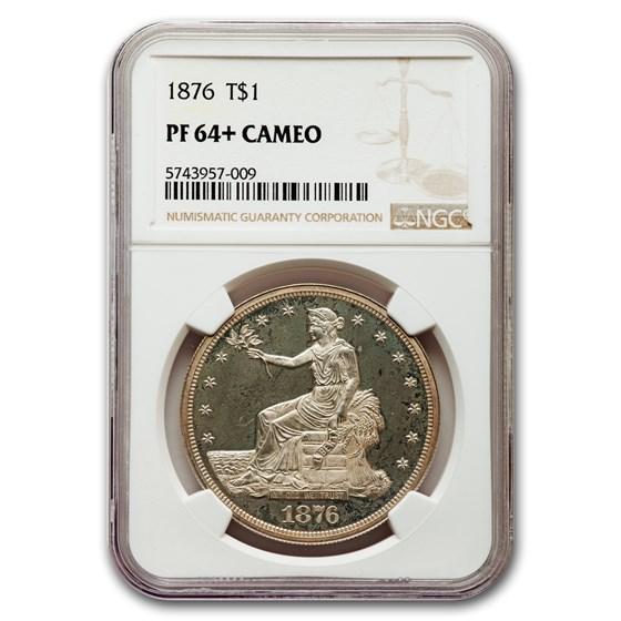 1876 Trade Dollar PF-64+ Cameo NGC