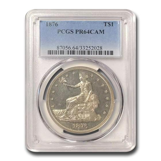 1876 Trade Dollar PR-64 Cameo PCGS