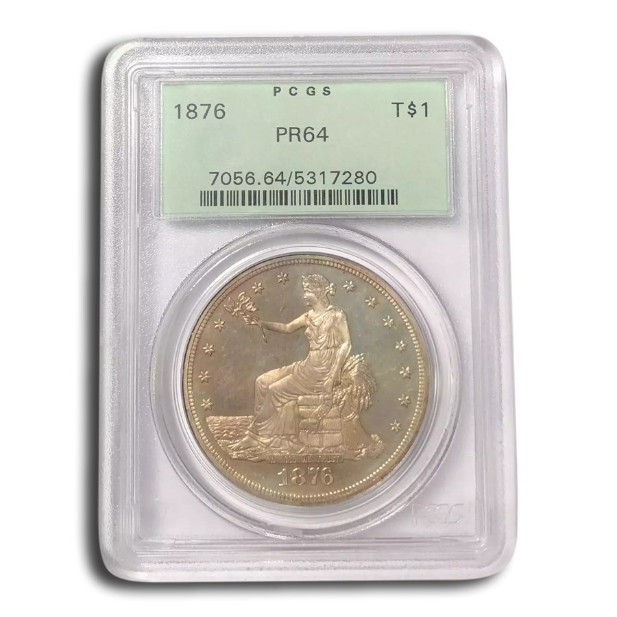 1876 Trade Dollar PR-64 PCGS