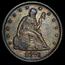 1876 Twenty Cent Piece AU