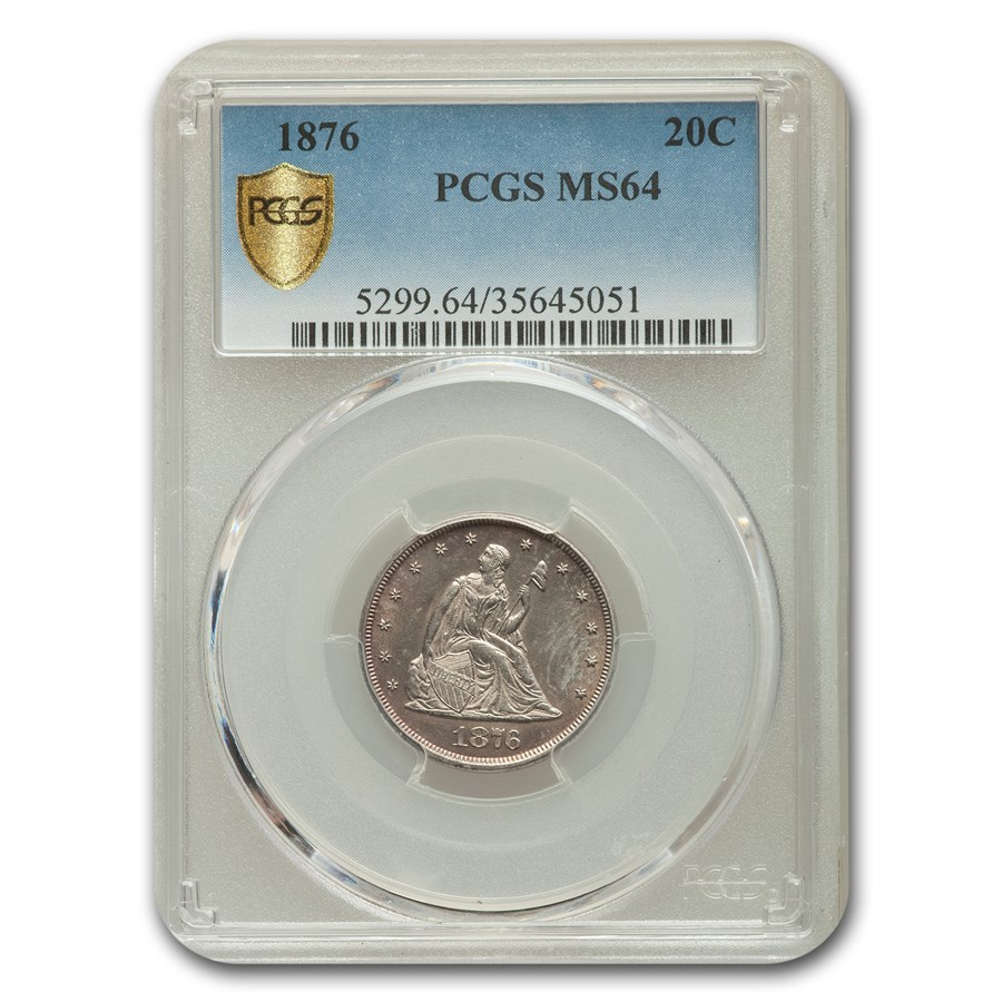 1876 Twenty Cent Piece MS-64 PCGS