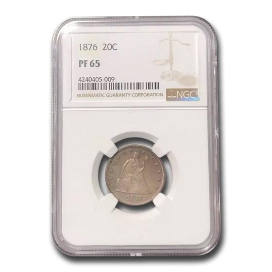 1876 Twenty Cent Piece PF-65 NGC
