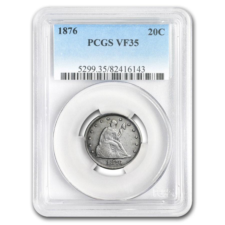 1876 Twenty Cent Piece VF-35 PCGS