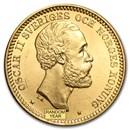 1877-1902 Sweden Gold 20 Kronor Oscar II (BU)