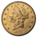 1877 $20 Liberty Gold Double Eagle XF
