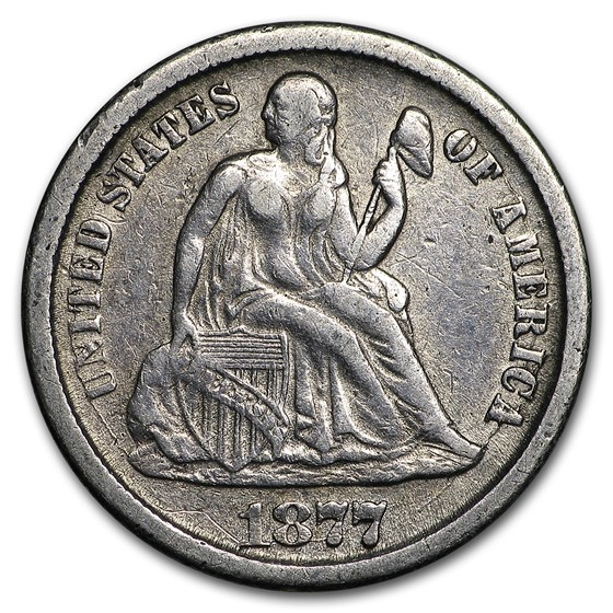 1877-CC Liberty Seated Dime VF (Details)