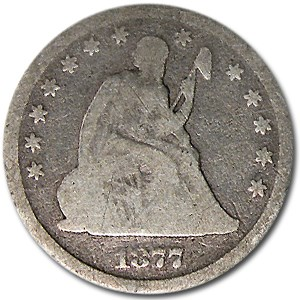 1877-CC Liberty Seated Quarter Good