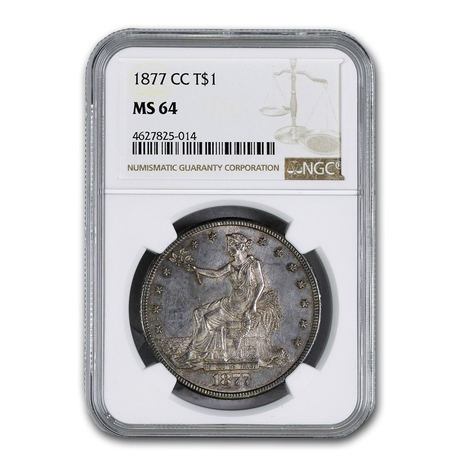 1877-CC Trade Dollar MS-64 NGC