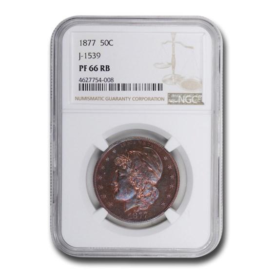 1877 Half Dollar Pattern PF-66 NGC (Red/Brown, J-1539a)