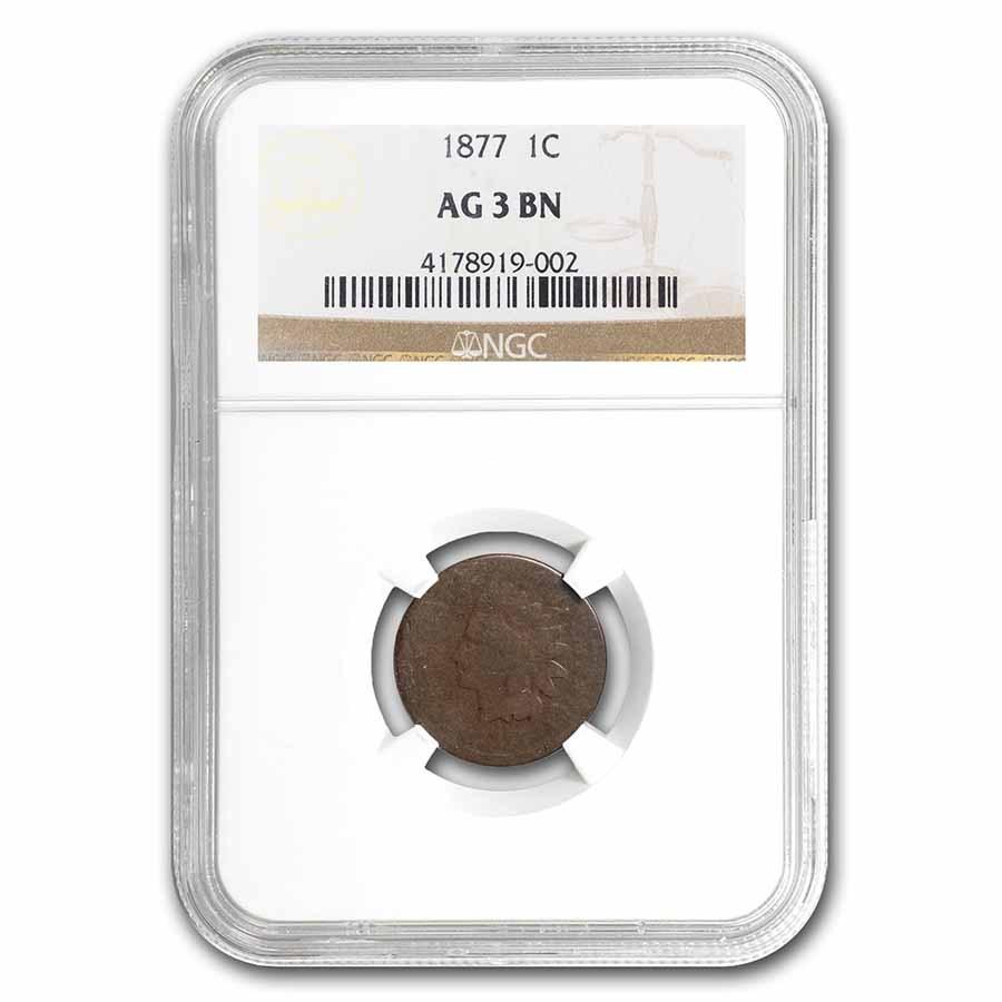 1877 Indian Head Cent AG-3 NGC