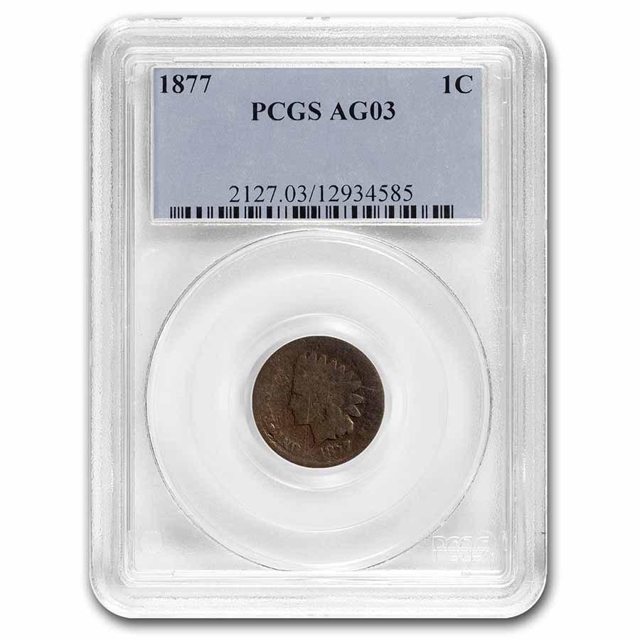 1877 Indian Head Cent AG-3 PCGS