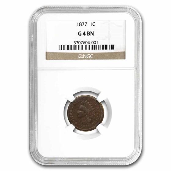 1877 Indian Head Cent Good-4 NGC (Brown)