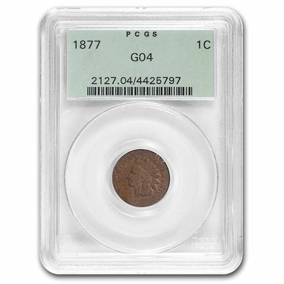1877 Indian Head Cent Good-4 PCGS