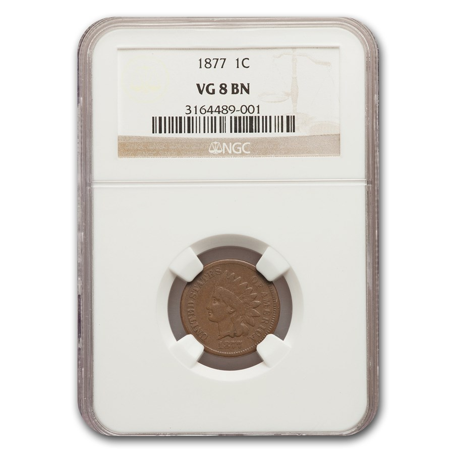 1877 Indian Head Cent VG-8 NGC
