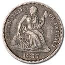 1877 Liberty Seated Dime XF