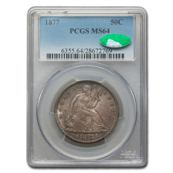 1877 Liberty Seated Half Dollar MS-64 PCGS CAC