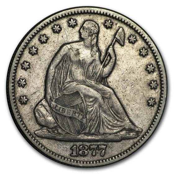 1877 Liberty Seated Half Dollar XF