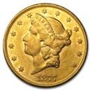 1877-S $20 Liberty Gold Double Eagle AU