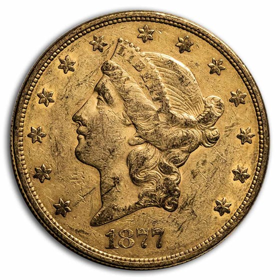 1877-S $20 Liberty Gold Double Eagle XF