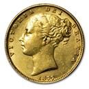 1877 S Australia Gold Sovereign Victoria Shield AU