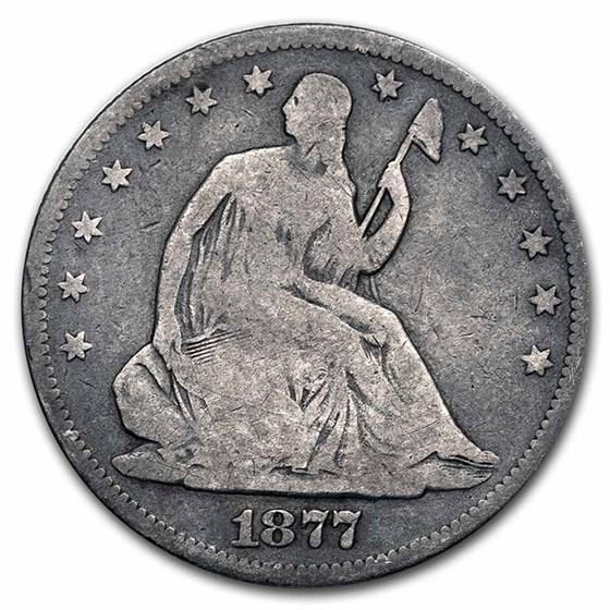 1877-S Liberty Seated Half Dollar Good