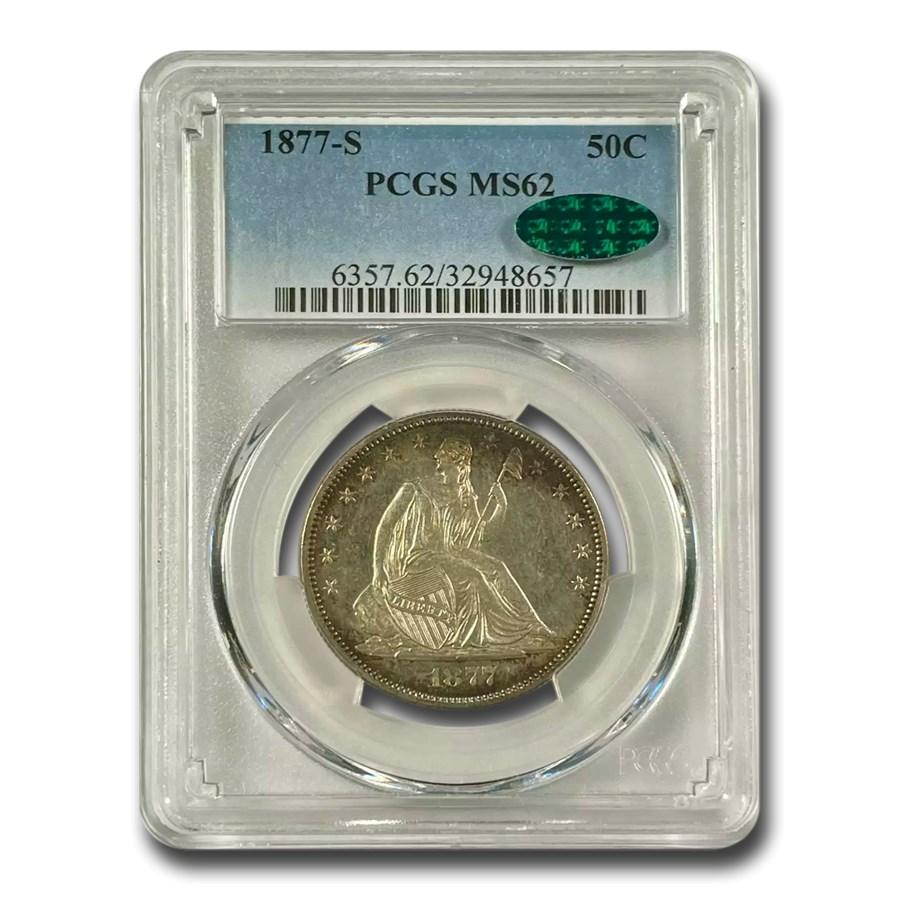 1877-S Liberty Seated Half Dollar MS-62 PCGS CAC