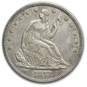 1877-S Liberty Seated Half Dollar XF
