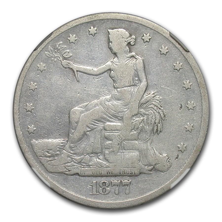 1877-S Trade Dollar Fine-15 NGC