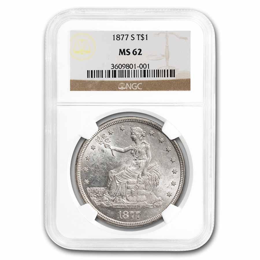 1877-S Trade Dollar MS-62 NGC