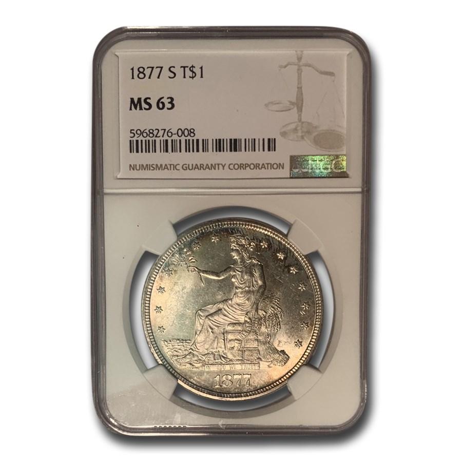 1877-S Trade Dollar MS-63 NGC