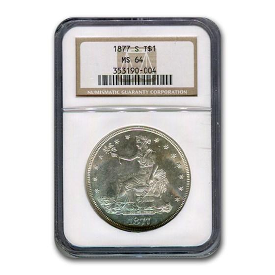1877-S Trade Dollar MS-64 NGC