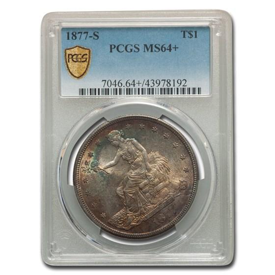 1877-S Trade Dollar MS-64+ PCGS