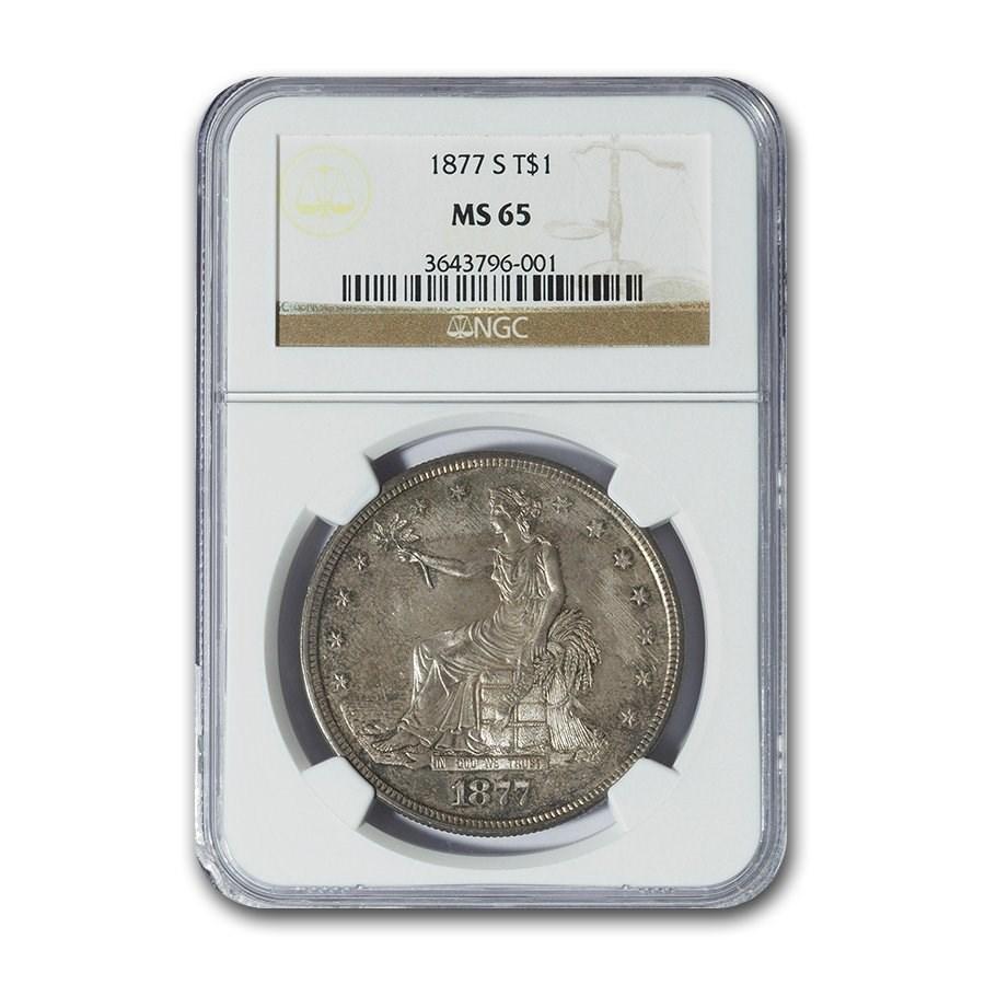 1877-S Trade Dollar MS-65 NGC
