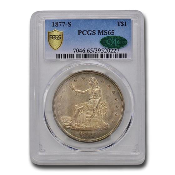 1877-S Trade Dollar MS-65 PCGS CAC