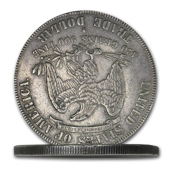 1877-S Trade Dollar Opium Dollar Hinged Box Dollar