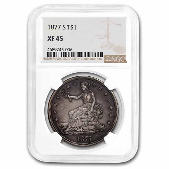 1877-S Trade Dollar XF-45 NGC